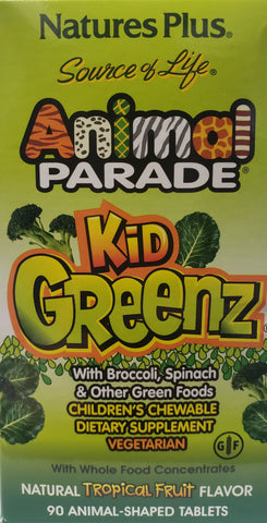 Animal Parade Kid Greenz  60 chewable wafers