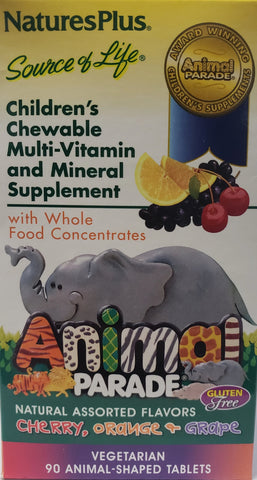 Animal Parade Children's Chewable Multi-Vitamin and Mineral Supplement
