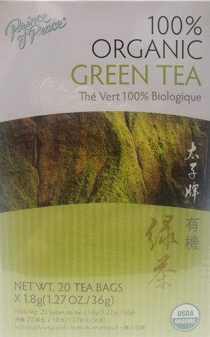 Prince of Peace 100% Organic Green Tea  20 bags