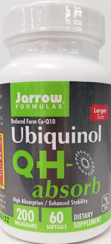 Jarrow Ubiquinol QH-absorb  60 softgels