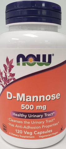 Now D-Mannose 500 mg  120 Veg Capsules