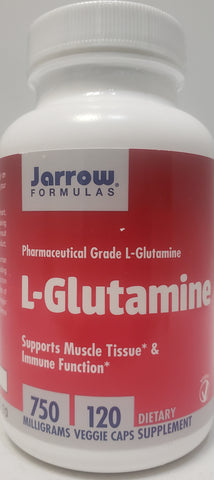Jarrow L-Glutamine 750 mg  120 veggie caps