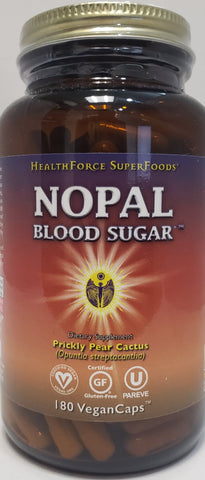 HealthForce Nopal Blood Sugar  180 Vegan Caps