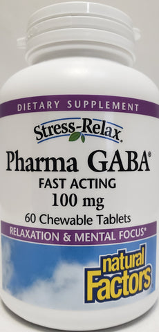 Stress-Relax® Pharma GABA® 100 mg  60 Chewable Tablets