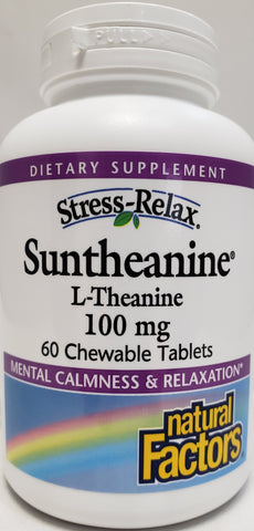 Stress-Relax® Suntheanine® L-Theanine 100 mg  60 Chewable Tablets