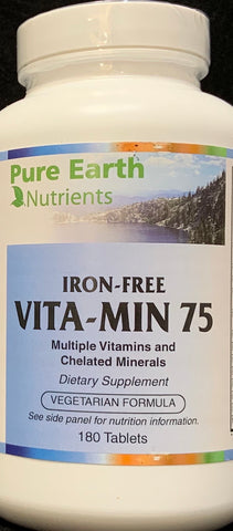 Pure Earth Nutrients Vita-Min 75  180 Tablets