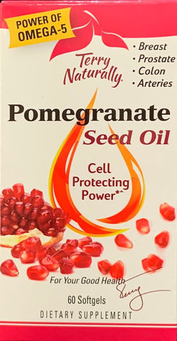 Terry Naturally Pomegranate Seed Oil  60 Softgels