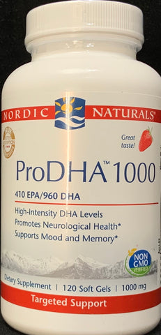 Nordic Naturals ProDHA™ 1000 Strawberry Soft Gels
