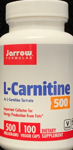 Jarrow L-Carnitine 500 mg  100 Veggie Caps