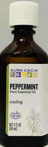Aura Cacia Essential Oil Peppermint  2 oz