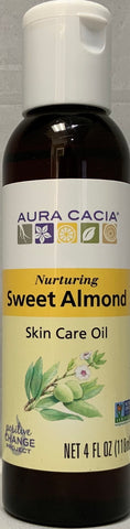 Aura Cacia Sweet Almond Skin Care Oil 4 fl oz