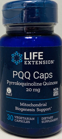 Life Extension PQQ Caps 20 mg  30 vegetarian Capsules