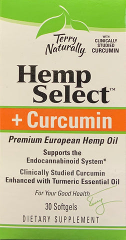 Terry Naturally Hemp Select™ + Curcumin  30 softgels