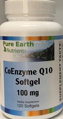 Pure Earth Nutrients CoEnzyme Q10 100mg  120 softgels