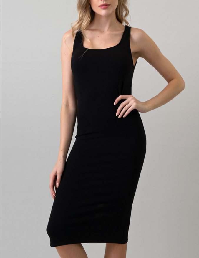 Basic Black Midi Dress