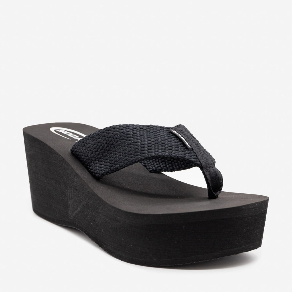 Women's Platform Thong Sandals - Soda Shoes