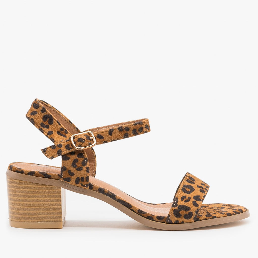 Women's Adorable Block Heels - Forever - Leopard / 5