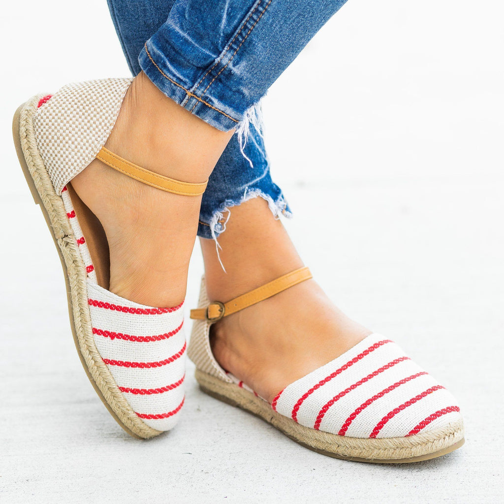 Womens Adorable dOrsay Espadrille Flats - Bamboo Shoes