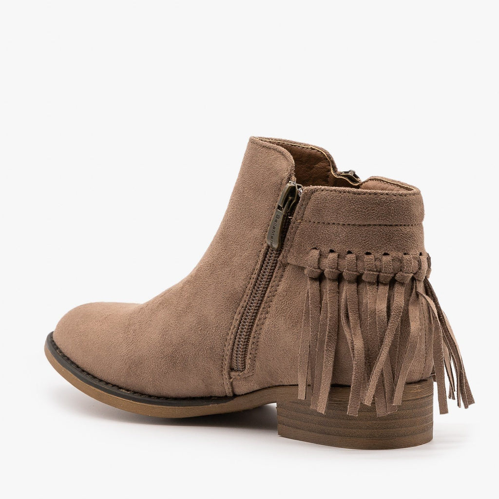 Womens Adorable Fringe Booties - Bella Marie