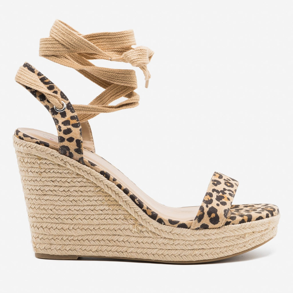 Women's Adorable Lace-Up Espadrille Wedges - Delicious Shoes
