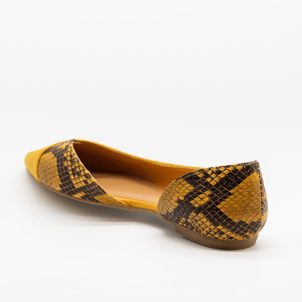 Womens Animal Print Accent Flats - Bamboo Shoes