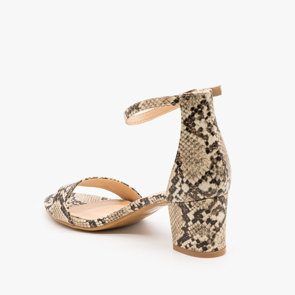 Womens Animal Print Block Heels - Bella Marie