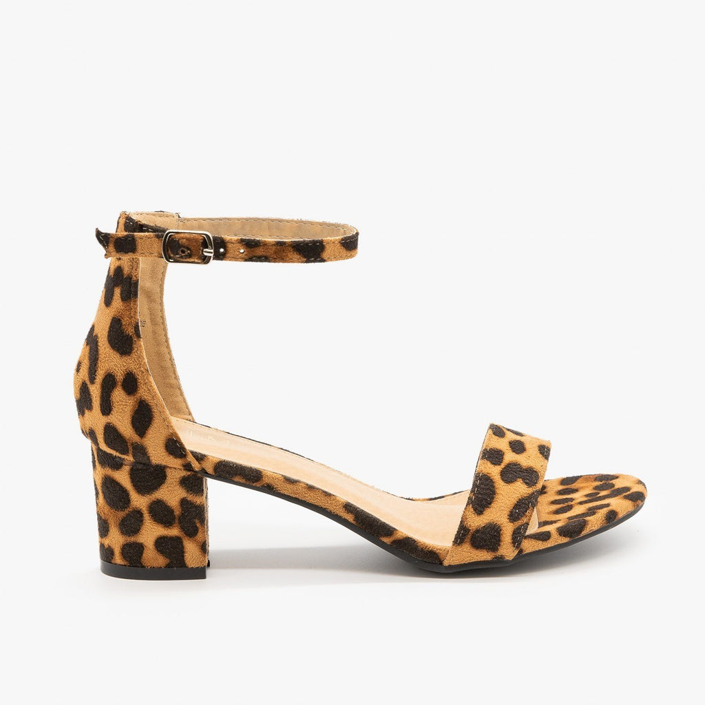 Womens Animal Print Block Heels - Bella Marie - Leopard / 5