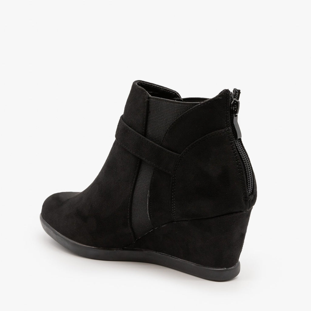 Womens Ankle Buckle Wedges - Forever
