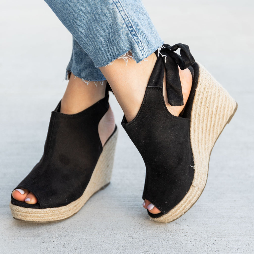 Women's Ankle Tie Espadrille Wedges - Refresh