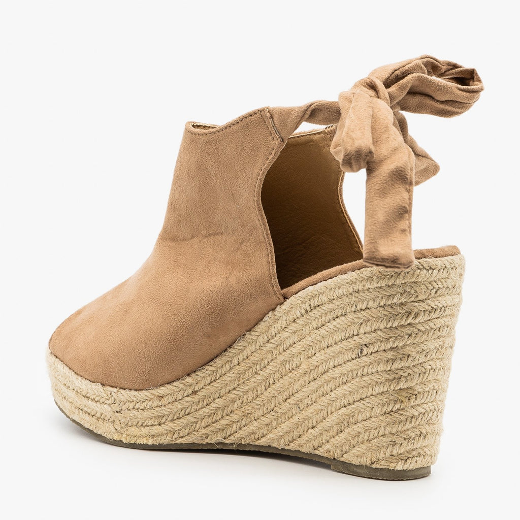Womens Ankle Tie Espadrille Wedges - Refresh