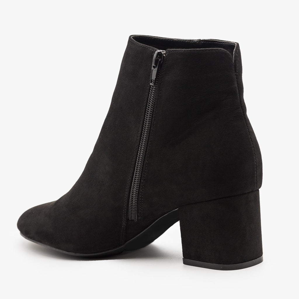 Womens Basic Ankle Booties - Bamboo Shoes