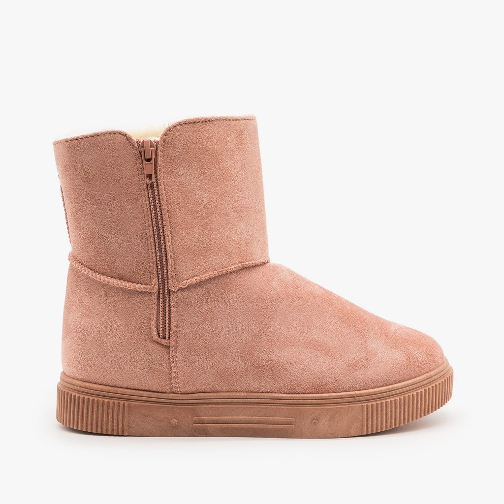 Womens Basic Comfort Booties - Bamboo - Pink / 5