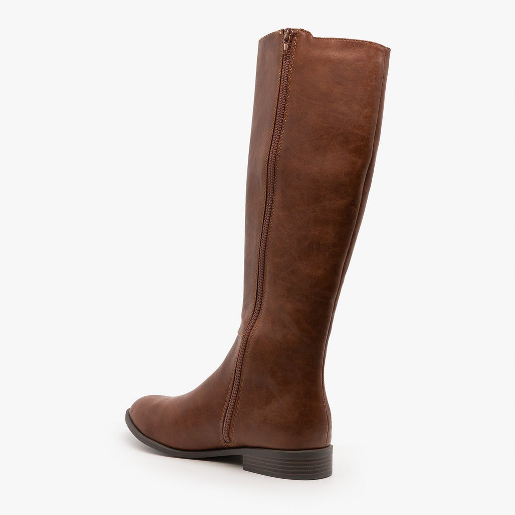 Womens Basic Riding Boots - City Classified Shoes