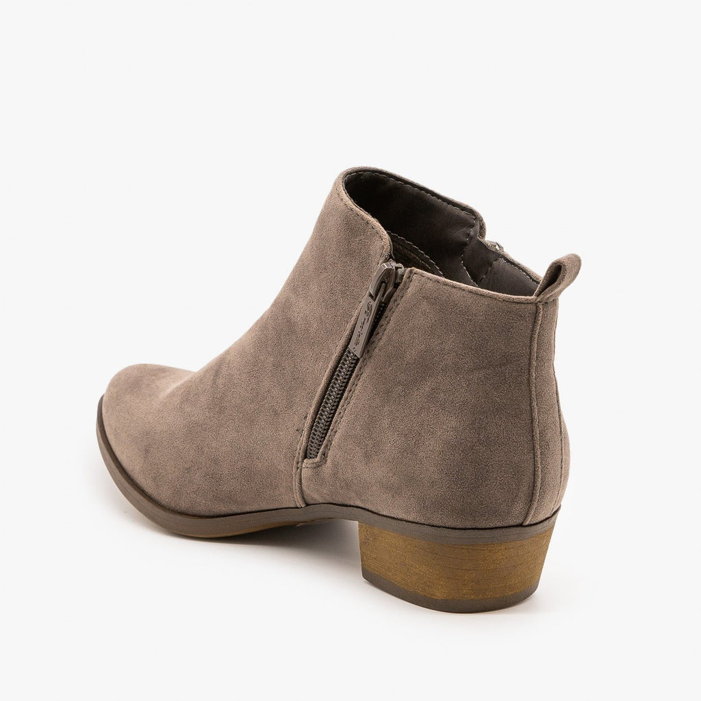 Womens Basic Zippered Boots - Breckelles