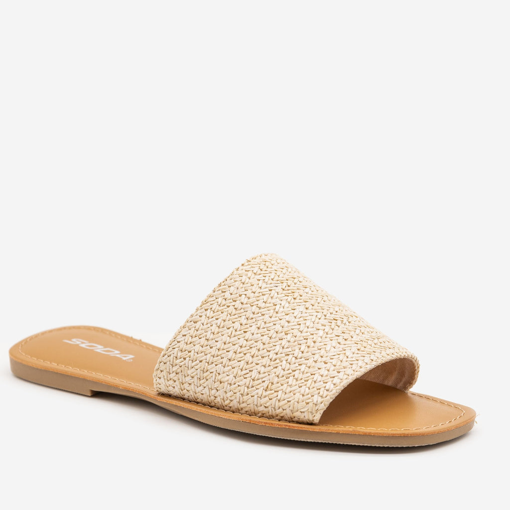 Women's Beachy Slip On Sandals - Soda Shoes