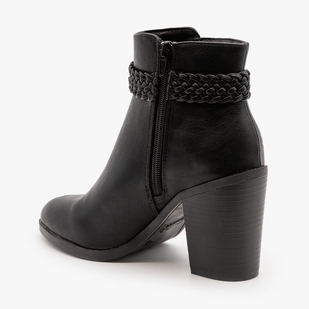 Womens Beautiful Belted Ankle Booties - Bamboo Shoes