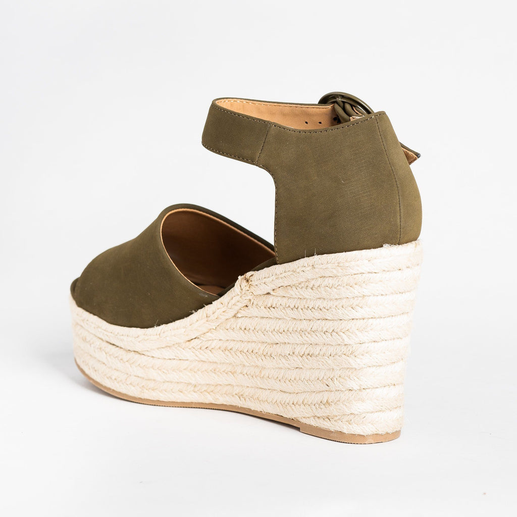 Womens Beautiful Espadrille Fashion Wedges - Soda Shoes