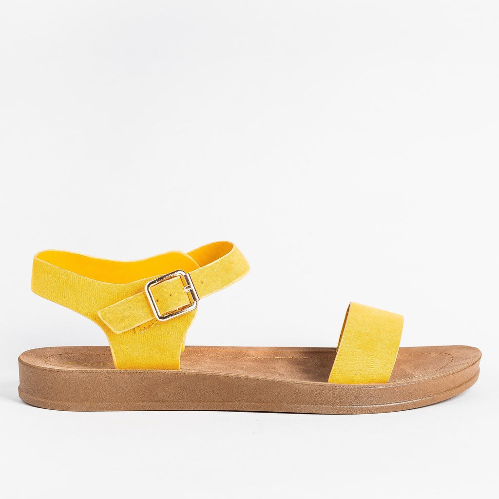Womens Beautiful Everyday Sandals - Bamboo Shoes - Marigold / 5