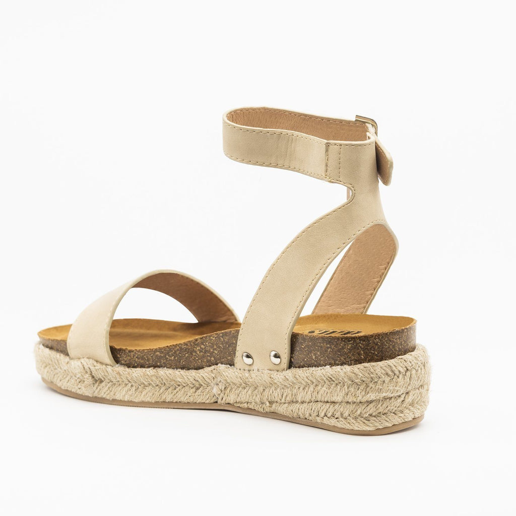 Womens Beautiful Fashion Espadrille Sandal Wedges - AMS Shoes