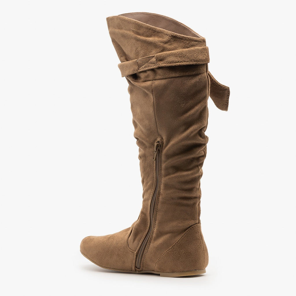 Womens Beautiful Knotted Boots - Wild Diva Shoes