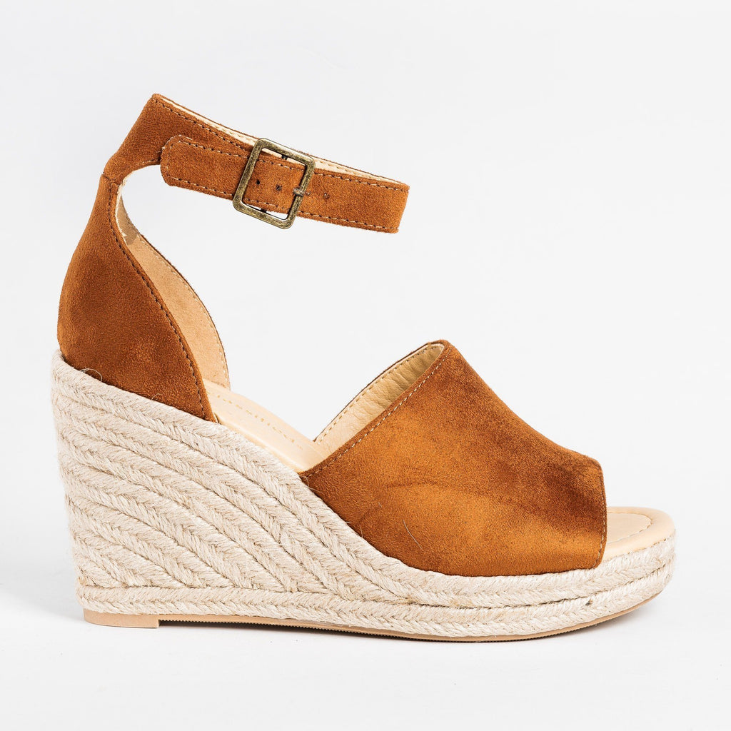 Womens Beautiful Open-Toe Espadrille Wedges - City Classified Shoes - Hazel / 5