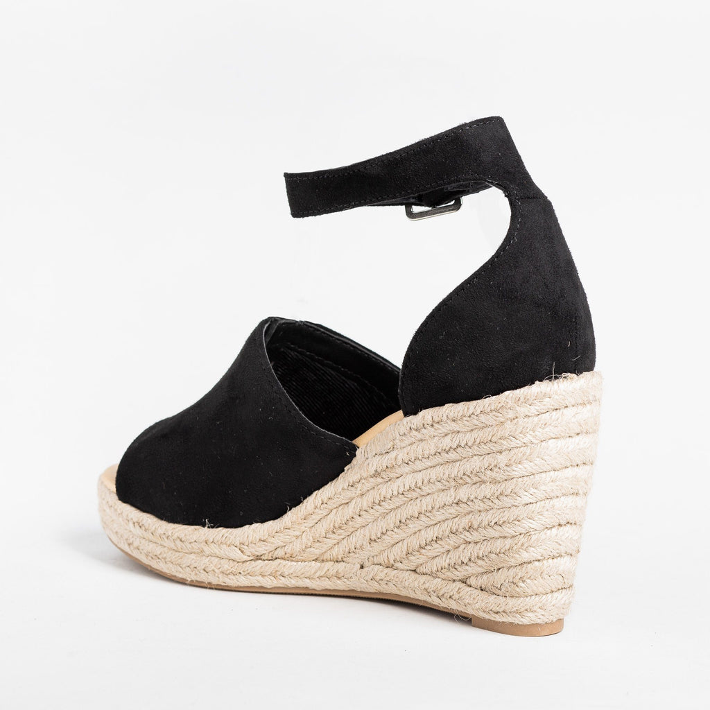 Womens Beautiful Open-Toe Espadrille Wedges - City Classified Shoes
