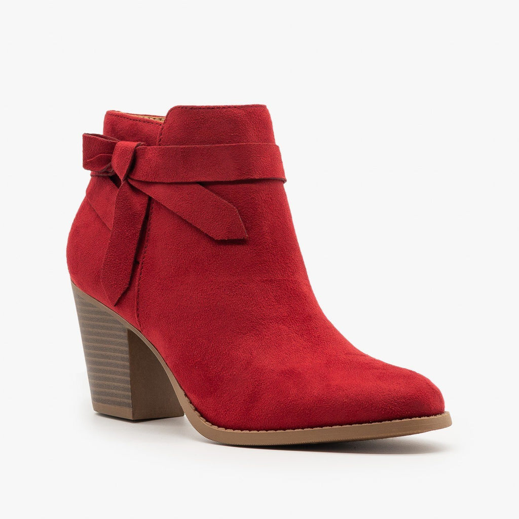 Womens Beautiful Side Knot Bootie - City Classified Shoes