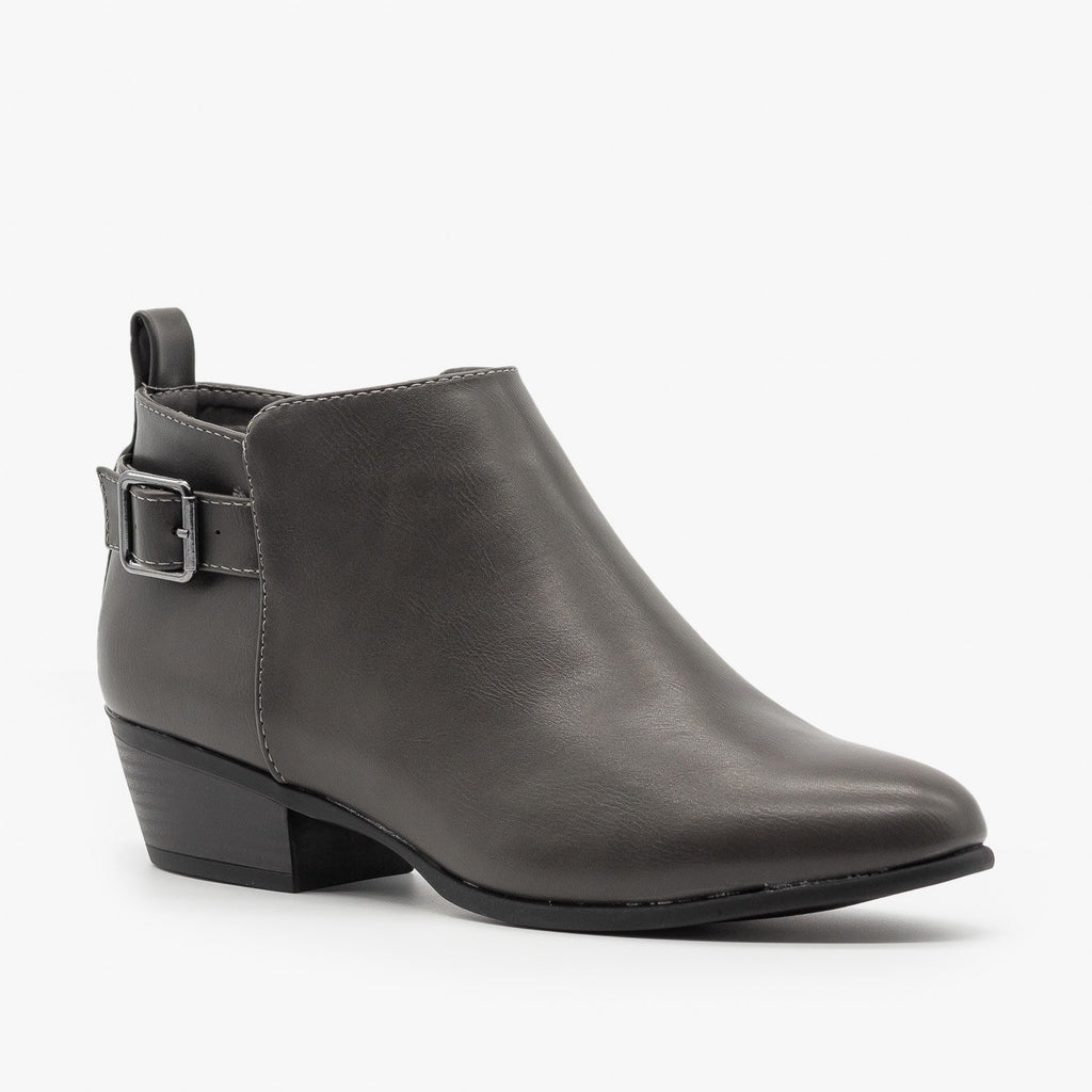 Womens Belt Buckle Ankle Booties - Refresh