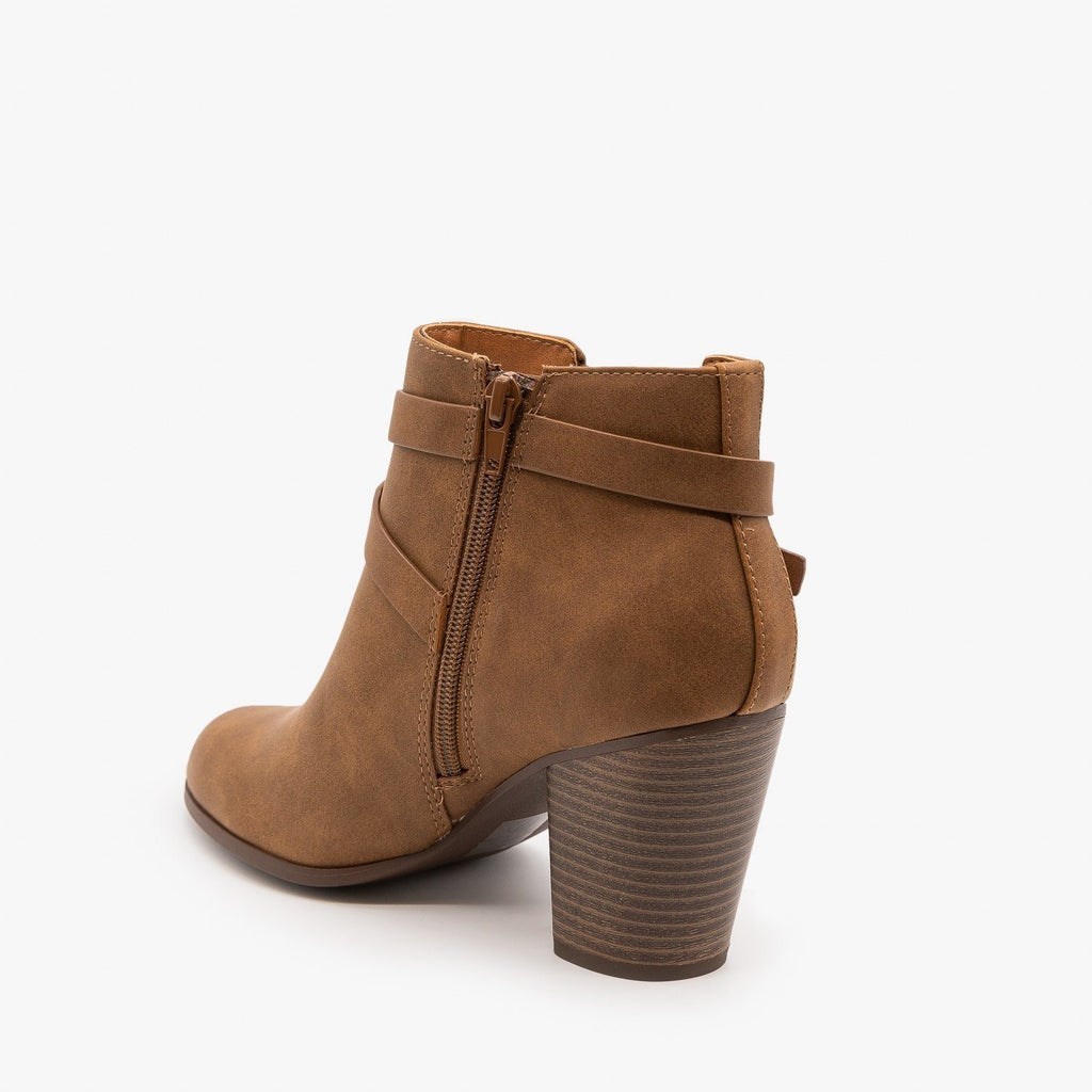 Womens Belted Ankle Booties - Soda Shoes