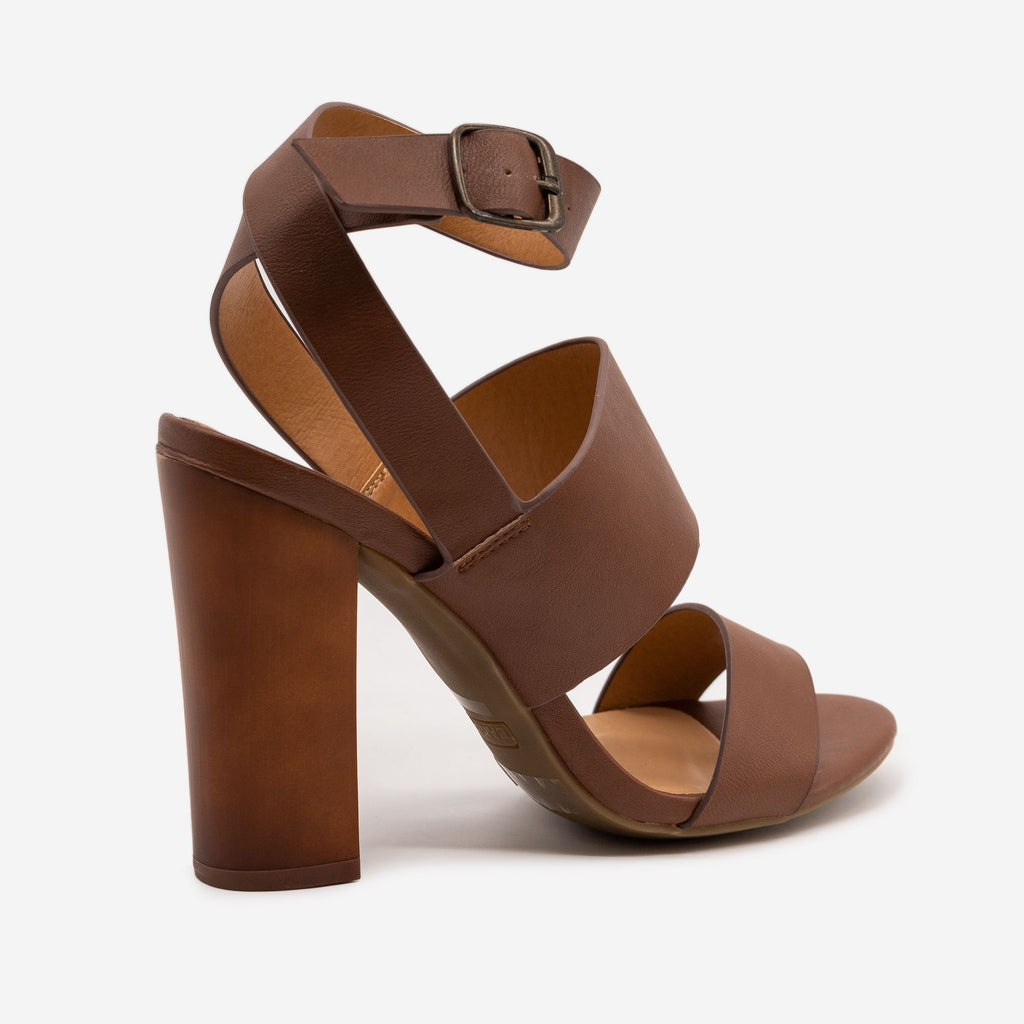 Women's Block High Heels - Bamboo