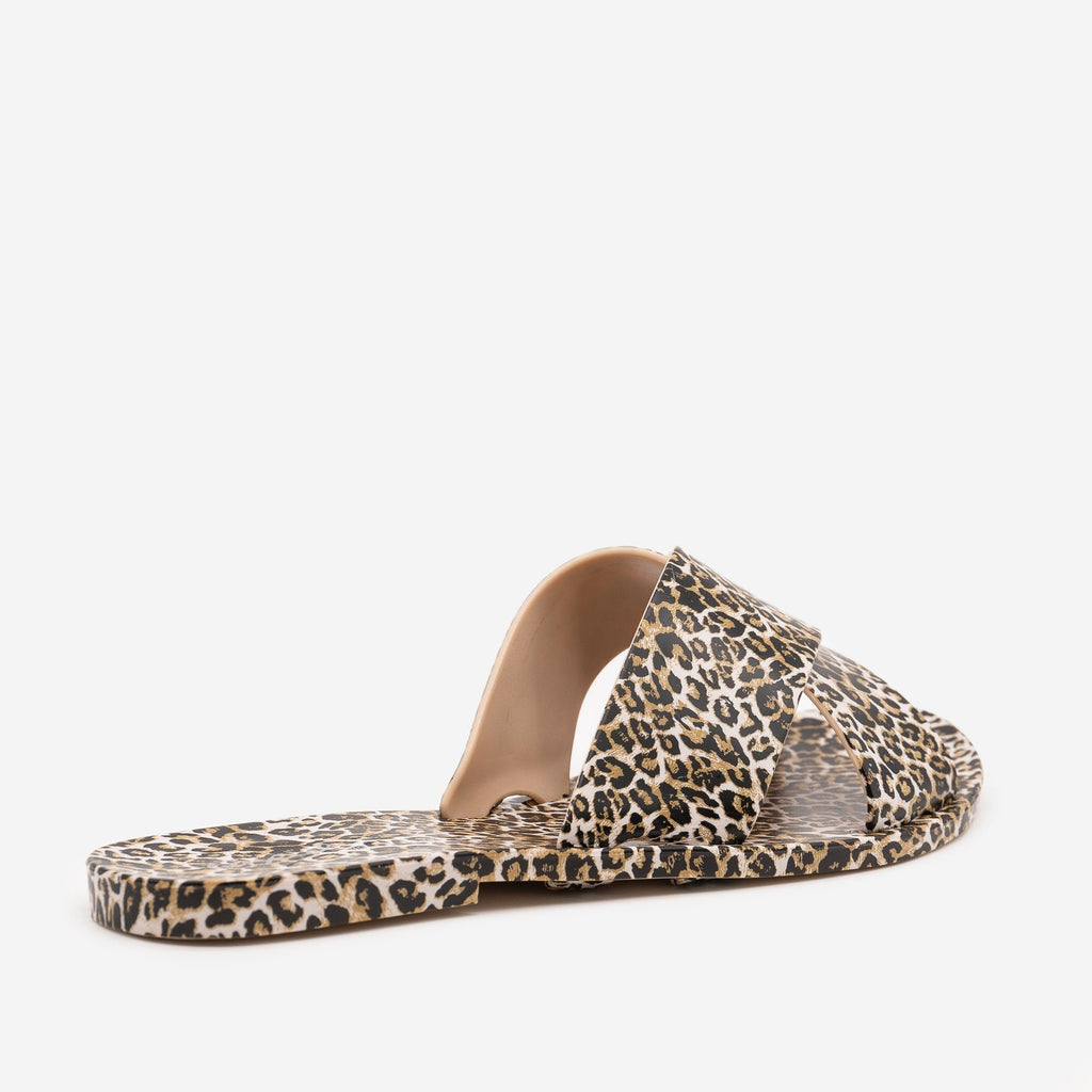 Women's Bold Leopard Print Sandals - Qupid Shoes
