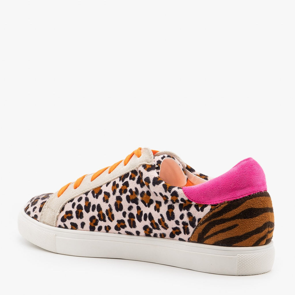 Womens Bold Animal Print Sneakers - Nature Breeze