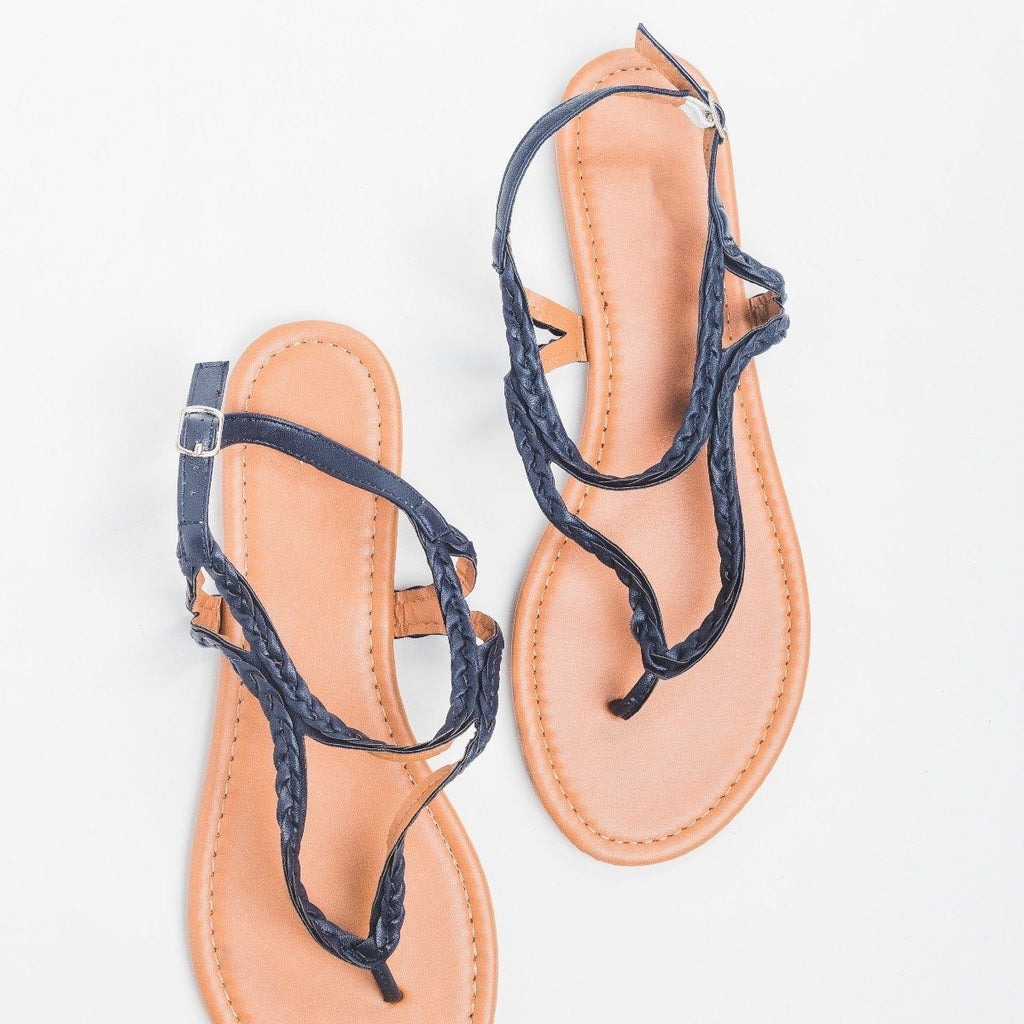 Womens Braided Thong Sandal - Olivia Miller
