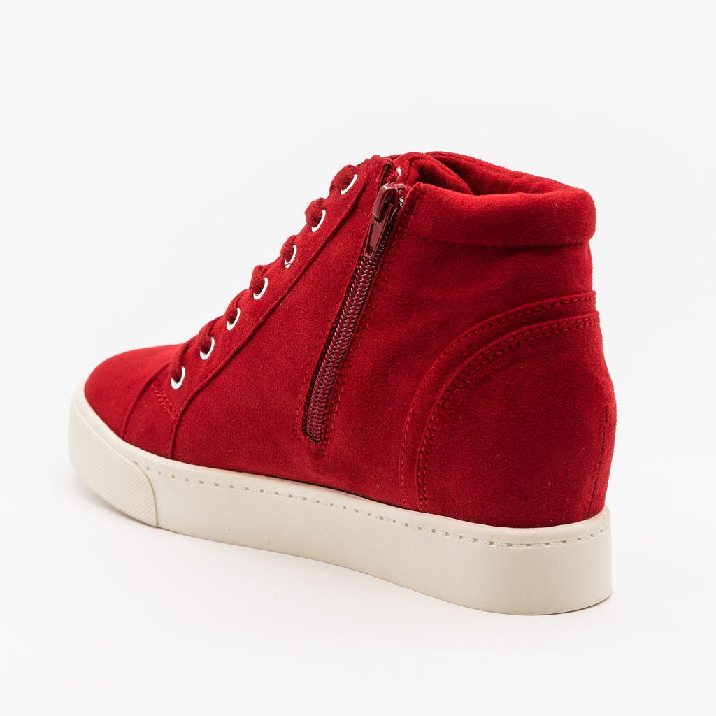 Womens Bright and Bold Sneaker Wedges - Soda Shoes